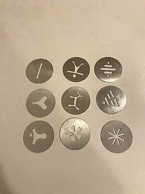 Lot Of 9 DISCS WEAR EVER SUPER SHOOTER ELECTRIC COOKIE PRESS REPLACEMENT PART