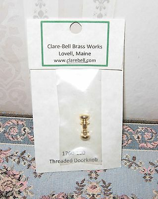 New Dollhouse Miniature 1:12 Clare Bell Brass Threaded Door Knob