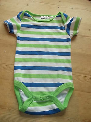 Peanut Buttons S/Sleeved Striped Bodysuit 0-3mths 62cm Green Mix BNWoT