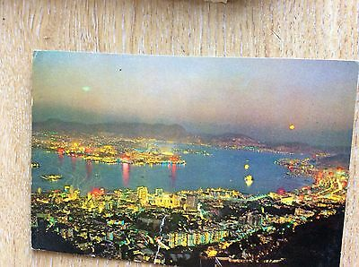 U1-3 postcard used 1965 kowloon hong kong