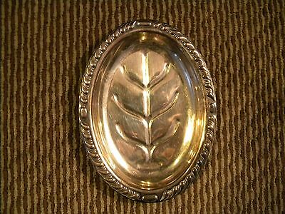 Canterbury Silver Plate oval tray with tree design 5""