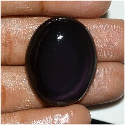 34.1 Ct NATURAL FINEST BLACK RAINBOW OBSIDIAN OVAL CABOCHON LOOSE GEMSTONE