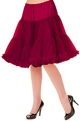 Banned Apparel Walkabout 20 Inch Burgundy Petticoat Red Crinoline Skirt XL - 2XL