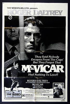 Roger Daltrey THe WHO McVicar Movie Poster 1981 27 x 41 style B