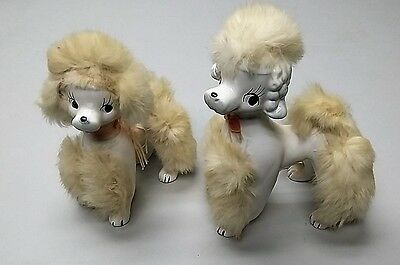 Vintage Pair Japanese Ceramic Poodles
