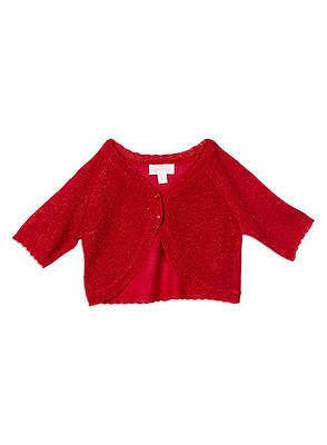 Girls Pumpkin Patch red sparkly  cardigan Size 2,5,8,9 & 10