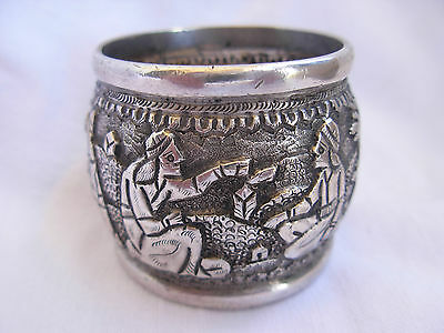 ANTIQUE STERLING SILVER NAPKING RING,EARLY 20th CENTURY.