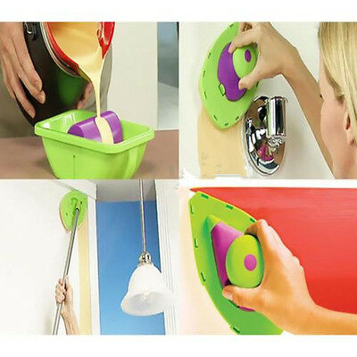 Easy Paint Pads Point Painting Roller Tray Multifunction Tool + 4 Sponge Set Kit