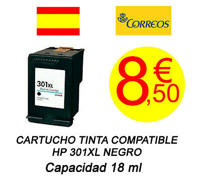 Cartucho Tinta Compatible HP 301XL Negro NO OEM