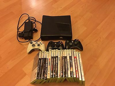 Xbox 360 Console With 3 Controllers And 18 Xbox 360 Games