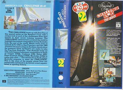 Americas Cup 83-87  Volume Two The Quest   Of Vhs Video Pal A Rare Find~