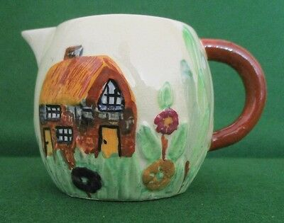 """Shorter & Son Embossed """"Cottage""""  Small Jug"""