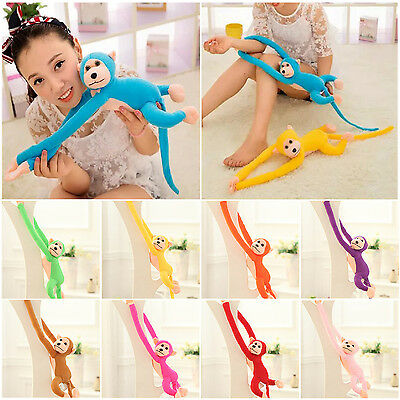 NO 60cm Long Arm Hanging Monkey Plush Baby Toys Stuffed Animals Soft Doll Kids