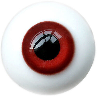 [wamami] Y39# 8mm Bright Red Eyes For BJD Doll Dollfie Glass Eyes Outfit