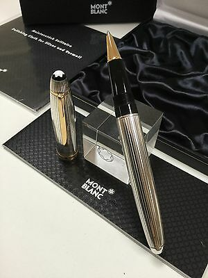 Montblanc Meisterstuck Solitaire Legrand 162SP Rollerball Silver Pen RARE NEW