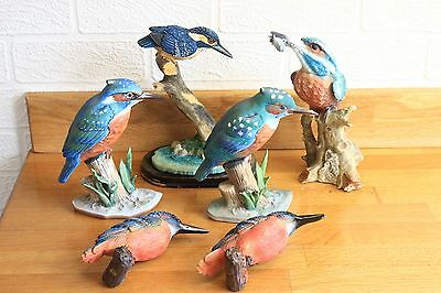 Collection of Kingfisher figurines (6)