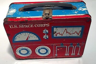 U.S. Space Corps Lunch Box Rare Vintage 1961 Universal Industries