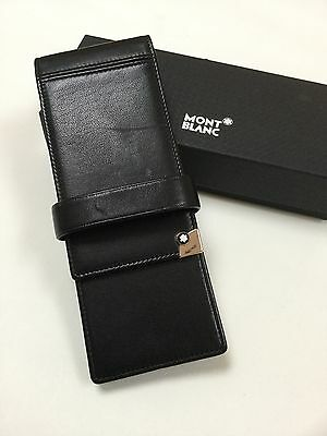 montblanc meisterstuck Solitaire Leather Range Three Pen Pouch RARE