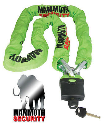 Mammoth Security Motorcycle Motorbike Scooter Chain Lock 1.8M Super Heavy Duty