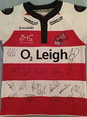 Leigh Centurions Signed Shirt x20 - 2017 Squad, Rugby League, Micky Higham, Hock