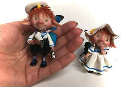 Miniature work of polymer clay OOAK Family Butterfly Fairy