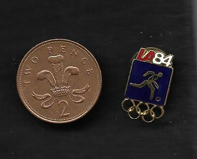 Olympic Games FOOTBALL pin badge 1984 Los Angeles