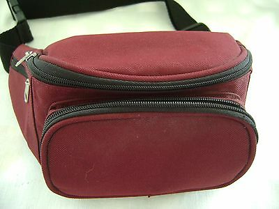 Fanny Pack,Waist Pack, Burgandy Canvas Men's or Women's NEW!!