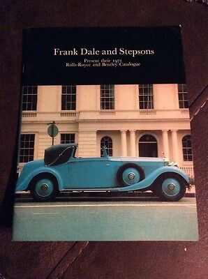 Frank Dale And Stepsons Present Their 1971 Rolls Royce And Bentley Catalogue