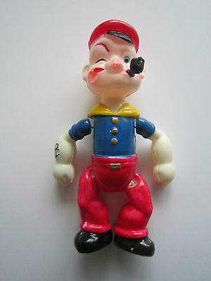 """RARE Vintage Popeye The Sailor Man 6"""" Jointed Figure Japan Celluloid Toy SELTEN"""