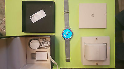 Huawei Watch 42mm Stainless Steel with Stainless Steel Mesh Band-Mint-BOX & ALL