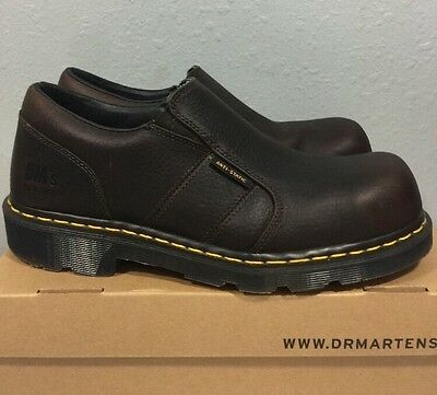Dr. Martens Mens Steel Toe Work Boots Size 11 In Box Resistor Bark 12981201 Air