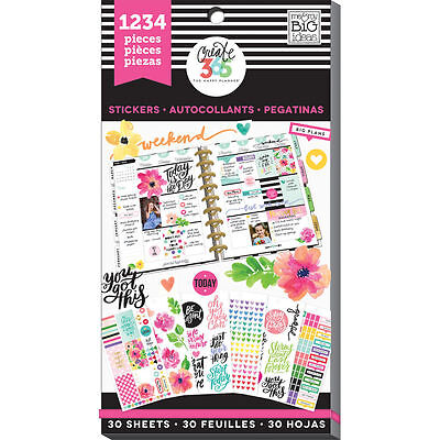 MAMBI Create 365 The Happy Planner TODAY IS THE DAY  Life Value Stickers 1234 PC