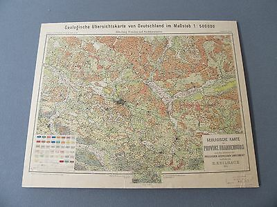 Map: Gelology Map of Berlin 1921 Mounted on Poster Board