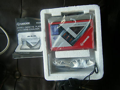 Cascade portable stereo cassette player with 3 band equaliser