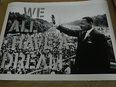 MR BRAINWASH - WE ALL HAVE A DREAM - SILVER xx/12 SIGNED Art Print / Poster MLK