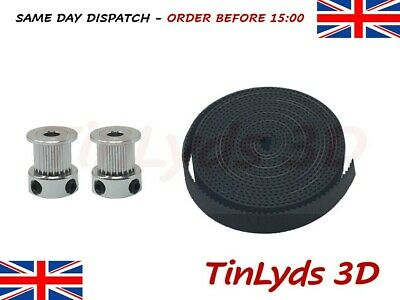 GT2 10mm Timing Belt + 20 Teeth 5mm Bore Pulley 10mm wide CNC / 3D printer part
