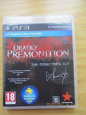 Deadly Premonition Director's Cut used PAL PS3 game
