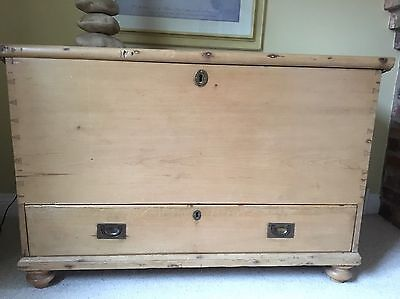 Antique Solid Large Pine Chest