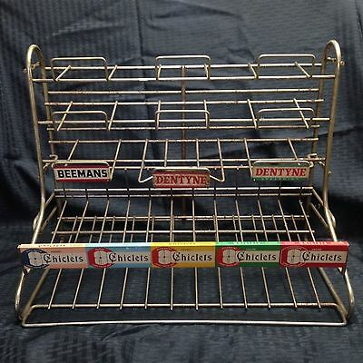 Vintage Beeman's Dentyne Chiclets Chewing Gum Store Counter Wire Display Rack