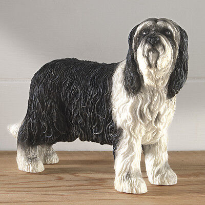 Large Bearded Collie Dog Ornament By Leonardo Home Decoration Dog Lovers Gift