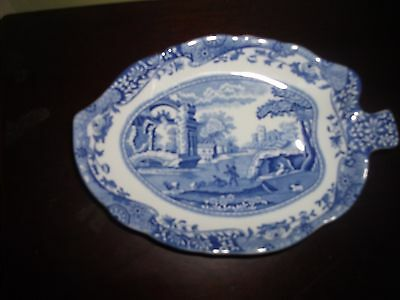 Spode, Leaf Shaped Dish/Plate ITALIAN Pattern very good condition