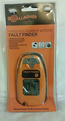 NEW!! Sealed! Gallagher Fault Finder Electric Fence Tester/Meter/Voltage #G50905