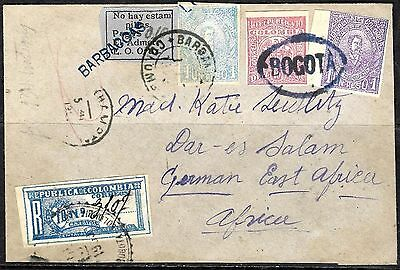 458 - Colombia - 1903 - Barbacoas - Registered Cover - Forgery - Fake - Faux