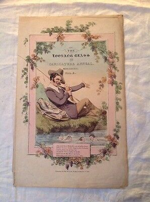 Caracature Annual The Looking Glass 1831 Front Cover. Duke Of Wellington