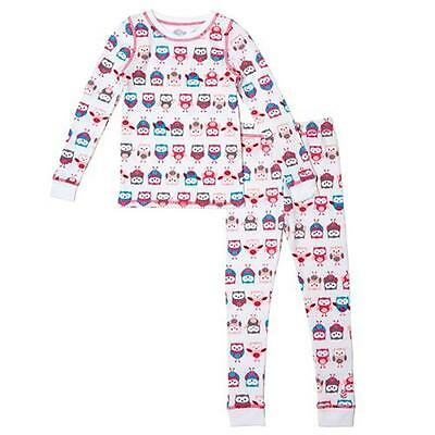 Cuddl Duds Comfortech Poly Base Layer Long John Underwear Girls Owl 2T 3T  NEW