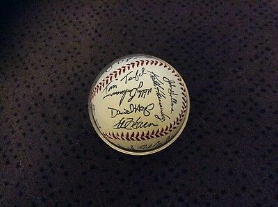 New York Mets printed signed baseball World Series 1996 with holder
