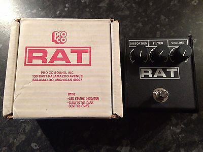 Proco Rat 2 Distortion pedal - with LM308AN vintage chip - NOS