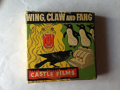 """Castle Films Vintage 8Mm Movie - """"wing, Claw And Fang"""""""