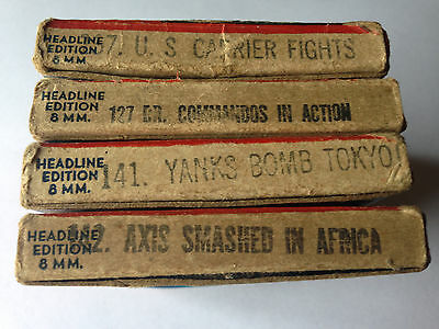 Lot Of 4 Castle Fims 8Mm Military Movies
