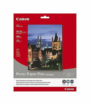 Factory Sealed Canon SG201 Semi Gloss Photo Paper Pack of 20 Sheets